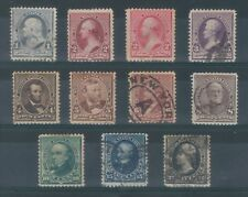 1890-93 US Stamp group general issues S# 219-28 F/VF U/H/MC TMM*