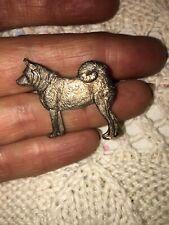 More details for vintage 60s silver plated kenart skipperke,schipperke with +tail belgian dog pin