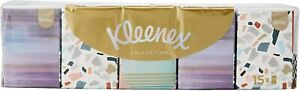 Kleenex Collection Mini Pocket Tissues 15 Packets Cold Flu Softest Facial Tissue