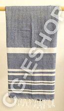 TELO MARE FOUTA COTONE 100x200 mod. LIBECCIO riga blu bianco