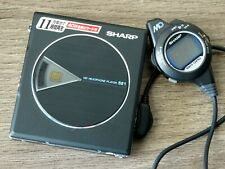 Euc Black Sharp Md-St521 Md Minidisc Player