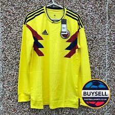 cc2dfc160 Authentic Adidas Colombia World Cup 2018 2019 Home Football Shirt Long  Sleeves M