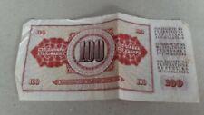 billet Yougoslavie Billet de banque de 100 Dinara 1986 rare collection