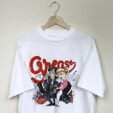 Vintage 90s Grease Movie Musical Logo Caricature Tee Shirt XL John Travolta