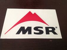 CAMPING OUTDOOR MSR OFFICIAL STICKER ,TENTS STOVES SHOES FORD 4WD SKIING BOAT