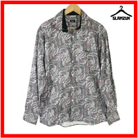 Paul Smith Shirt XL Floral Paisley Print Button Up Long Sleeve Designer Cotton