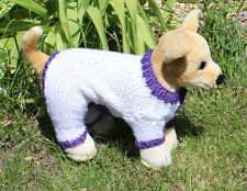 PRINTED INSTRUCTIONS - DOG SIMPLE CHUNKY ROMPER ALL-IN-ONE COAT KNITTING PATTERN