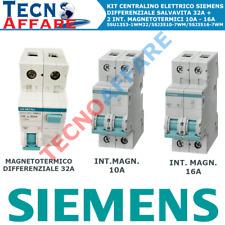 Kit Centralino Magnetotermico Differenziale + 2 Interruttori Magnetotermici