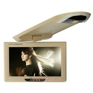 """9"""" Roof Mount Ceiling LCD Display In-car Monitor For DVD MP5 DVR Reversing Cam"""