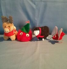Assorted Christmas Animals- McDonalds Reindeer, Black Sheep, Mouse & Puffball