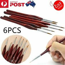 6pcs Artist Paint Brush Sable Hair Detail Miniature Brush Painting Brushes Set
