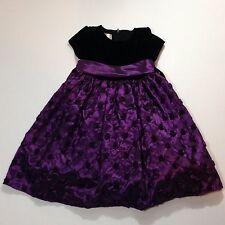 Fancy American Princess Girl's Formal Occasion Dress - Size 5 - Purple/Black