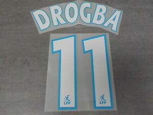 Flocage DROGBA n°11 Blanc - OM  MARSEILLE - maillot France Patch Football