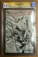 Amazing Spider-Man #1 Ramos Sketch Variant CGC SS 9.8 Signed Slott & Stan Lee