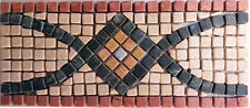 Rosone rosoni mosaici in marmo  greca ART121 IN MARMO CM 35x15