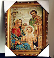 Catholic Jesus Holy Family Religious Gift Wall Textile Cloth Statue Figure 11""