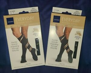 (2) Sigvaris Everyday Trouser Socks Therapeutic Graduated Compression (Small)
