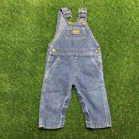 Vintage Oshkosh Vestbak USA Made Denim Jean Overalls Baby Size 12 Months