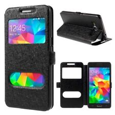 Etui Housse Coque Pochette View Case Black Support Silicone Samsung Galaxy S7