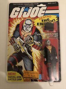 G.I. Joe 1983 Hasbro Enemy Weapons Supplier (Destro)Action Figure MOC AFA Worthy
