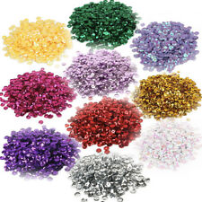 10 x Round Cupped Sequins Sewing Craft Confetti Mix Colours Jumbo Pack 5000+