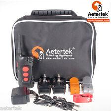 Aetertek 2 Pet Dog E-collar Electric Shock Training Collar For Large Medium Dogs