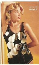 KYLIE MINOGUE shiny disc dress 6x4 inch unused Postcard from Smash Hits magazine