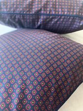 Ralph Lauren 2 Decorative BED PILLOWS Pair MILBROOK FOULARD Goose Feather Pillow
