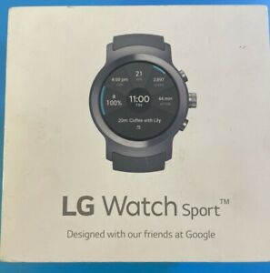 LG Watch Sport W280A 45.4mm Titanium Stainless Steel Case Classic. BRAND NEW.