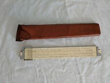 Vintage Keuffel & Esser K&E N4081-3 Log Log Duplex Decitrig Slide Rule w/Case