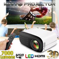 Portable Mini Projector 1080P HD Video LED Home Theater Cinema PC USB HDMI AV