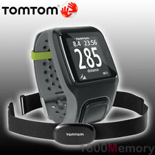 TomTom Multi-Sport Black Gray GPS Watch with Bike Mount & Heart Rate Strap