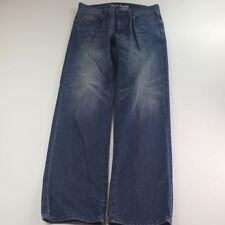 """DKNY Men SOHO Relaxed Blue Straight Cut Waist 33"""""""