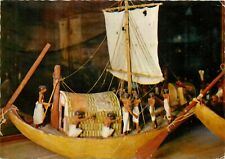 Model boat with linnen sail Egypt postcard