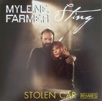 VINYLE MAXI 12'' MYLENE FARMER & STING STOLEN CAR REMIXES NEUF SOUS BLISTER 2016