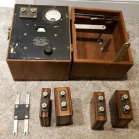 Antique General Radio Company WAVEMETER Type 342 With Coils & Wooden Case