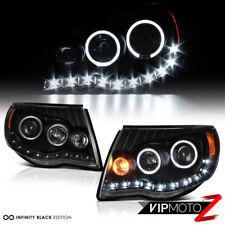 "2005-2011 Toyota Tacoma ""TRD STYLE"" Black Angel Eye LED DRL Headlights Assembly"