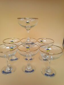 Set of Seven Vintage Retro 1960's Babycham/Cocktail Glasses