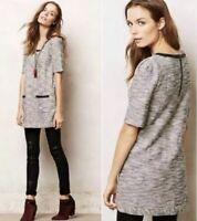 Anthropologie Postmark Gray Marley Tunic Top Size XS Women's