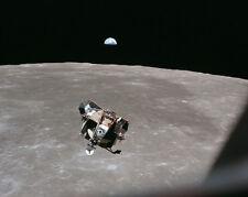 Apollo 11 Mond Modul Mond & Erde 8x10 Silber Halogen Fotodruck