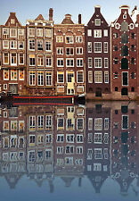 SUPERB AMSTERDAM CITYSCAPE #317 QUALITY CITY CANVAS A1 PICTURE HOME DECOR