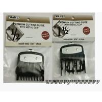 Wahl Premium Clipper Cutting Guides Guards Metal Clip Set #1/2 & #1 1/2