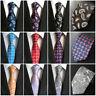 Mens Silk Paisley Ties Floral JACQUARD WOVEN Necktie Wedding Party Business Tie