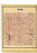 1870 Map of Knox, Ohio, with family names, from Atlas of Columbiana County