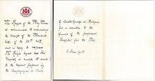 CASTELGUELFO: Lettera scritta da BUCKINGHAM PALACE riguardo OSPEDALE POVERI 1905