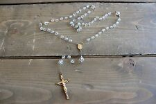 Antique 12k Gold Filled Crystal Bead Rosary