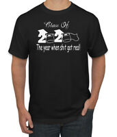 Class of 2020 When Sh#t Got Real Graduation Mens Graphic T-Shirt