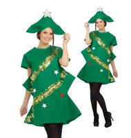 Adult Christmas Tree Costume Ladies Novelty Xmas Tree Outfit Fancy Dress