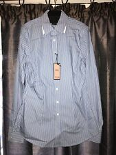 "Thomas Pink Ladies ""Flower"" Blue/ White Stripped Tailored Casual/ Office Shirt 8"