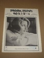 "Lesley Gore ""Sunshine, Lollipops And Rainbows"" sheet music"
